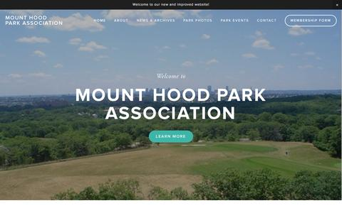 Screenshot of Home Page mthoodpa.com - Mount Hood Park Association - captured Oct. 11, 2015