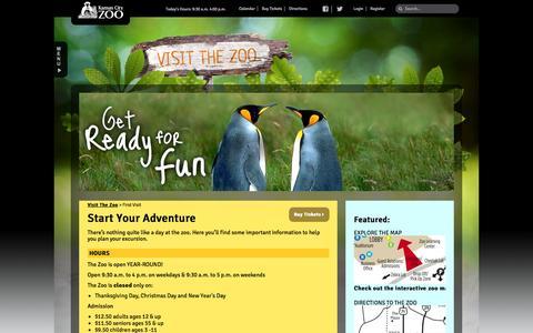 Screenshot of Hours Page kansascityzoo.org - First Visit | Kansas City Zoo - captured Sept. 19, 2014