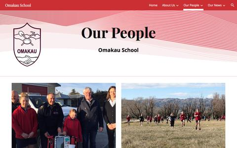 Screenshot of Team Page google.com - Omakau School - Our People - captured March 5, 2018