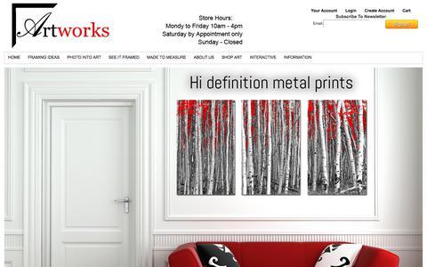 Screenshot of Home Page artworksint.com - Artworks Int - captured Oct. 8, 2017