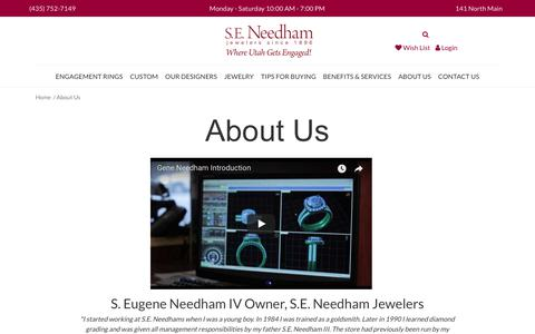 Screenshot of About Page seneedham.com - S.E. Needham:  About Us - captured Sept. 26, 2017