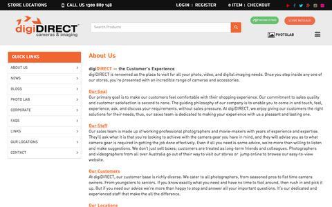 Screenshot of About Page digidirect.com.au - Cheap Digital Cameras - About  | DigiDIRECT Australia - captured Nov. 24, 2016