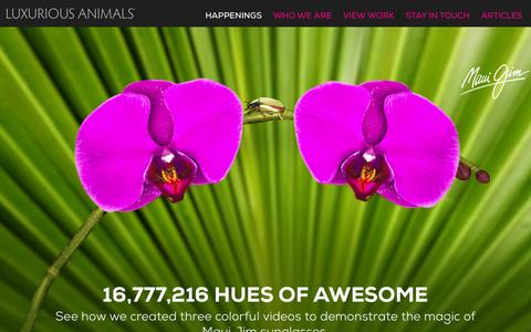 Screenshot of Home Page luxanimals.com - Luxurious Animals - Creative Digital Agency - captured Oct. 3, 2014