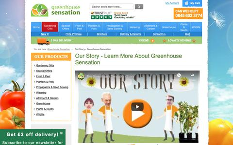 Screenshot of About Page greenhousesensation.co.uk - Our Story - Greenhouse Sensation - captured Nov. 5, 2018