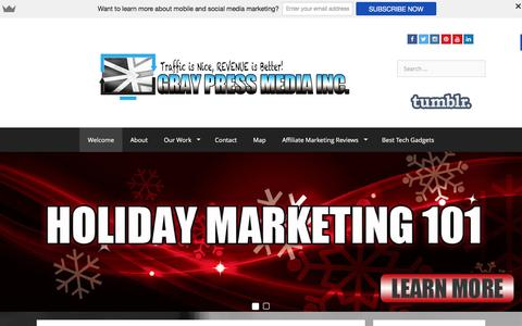 Screenshot of Home Page graypressmedia.com - Gray Press Media - Digital Marketing and Social Media - captured Dec. 13, 2015