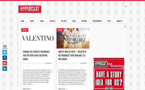 Screenshot of Home Page hypursuit.com - HyPursuit | Creativity, LifeStyle & Marketing - captured Feb. 2, 2016