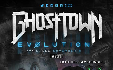 Screenshot of Home Page officialghosttown.com - Ghost Town's Official Site - captured Oct. 17, 2015