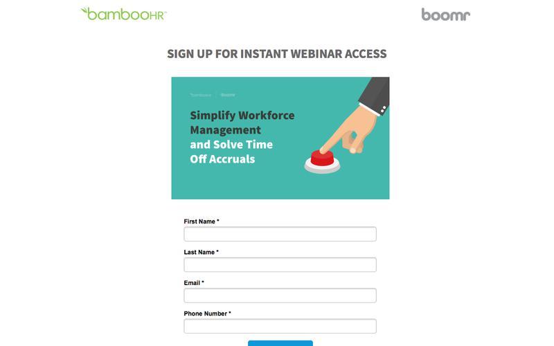 BambooHR | Instant Boomr Webinar Access