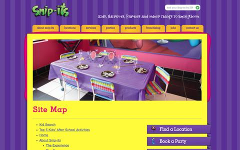Screenshot of Site Map Page snipits.com - Site Map » Snip-its - captured Sept. 19, 2014