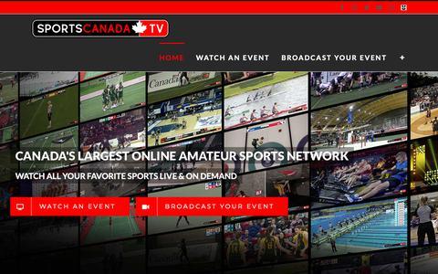 Screenshot of Home Page sportscanada.tv - SPORTSCANADA.TV – Canada's Largest Online Amateur Sports Network - captured Oct. 17, 2018