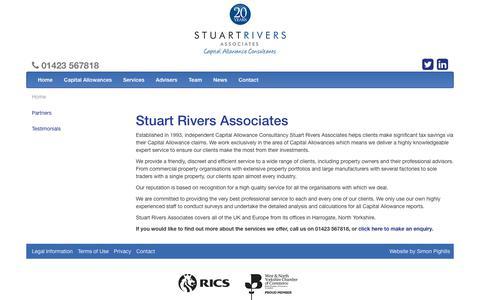 Screenshot of Team Page stuart-rivers.co.uk - Stuart Rivers Associates   Stuart Rivers Associates - captured Nov. 10, 2017