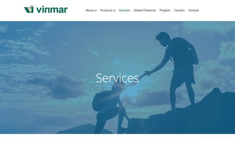 Screenshot of Services Page vinmar.com - Services - Vinmar International - captured May 30, 2019