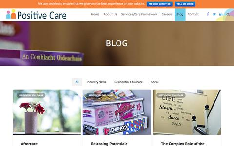 Screenshot of Blog positivecare.ie - News from Positive Care - captured Nov. 9, 2016