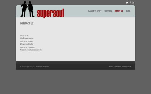 Screenshot of Contact Page supersoul.co - Super Soul |   Contact Us - captured Oct. 7, 2014