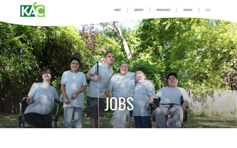 Screenshot of Jobs Page thekac.com - KAC | Jobs - captured Oct. 15, 2018