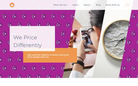 Screenshot of Pricing Page likeable.com - We Price Differently | Likeable - captured April 19, 2019