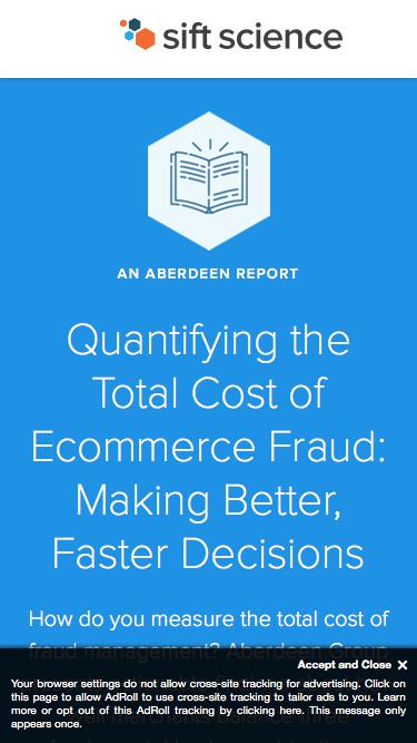 Quantifying the Total Cost of Ecommerce Fraud