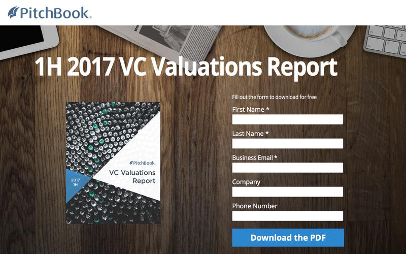 PitchBook 1H 2017 VC Valuations Report