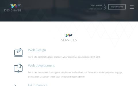 Screenshot of Services Page designweb.co.uk - Services | DesignWeb - captured March 13, 2017