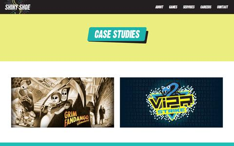 Screenshot of Case Studies Page shinyshoe.com - Case Studies - Shiny Shoe - captured Dec. 21, 2015