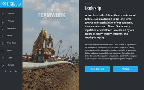 Screenshot of Team Page emseng.com - EnsiteUSA - Leadership - captured Nov. 2, 2014