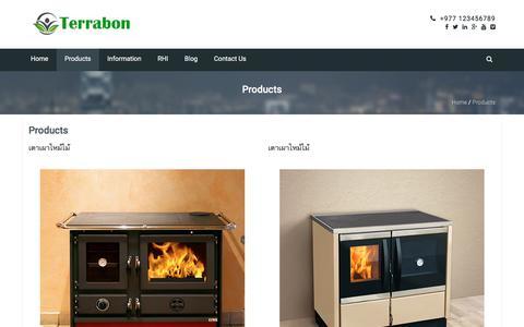 Screenshot of Products Page terrabon.com - Products – terrabon.com - captured June 13, 2017
