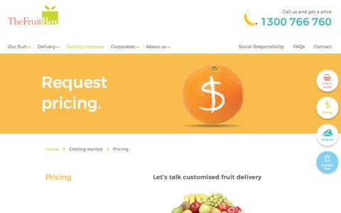 Screenshot of Pricing Page thefruitbox.com.au - Pricing fruit for the workplace | The Fruit Box - captured June 2, 2017