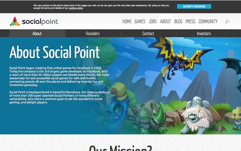 Screenshot of About Page Contact Page socialpoint.es - About Us: Social Point developer company - captured Sept. 17, 2014