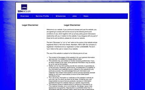 Screenshot of Terms Page zenocean.com - Zenocean - Jobs - captured Oct. 27, 2014