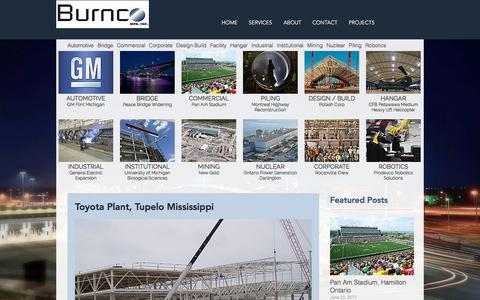 Screenshot of Blog burncomfg.com - Structural Steel Fabricator | Projects | Burnco Mfg | CISC - captured Oct. 11, 2017