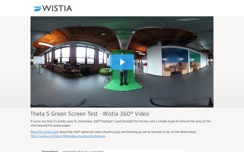 Theta S Green Screen Test - Wistia 360° Video - Wistia Home