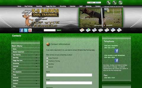 Screenshot of Maps & Directions Page k9basics.com - Dog Trainers | Marlton | New Jersey - captured Oct. 8, 2014