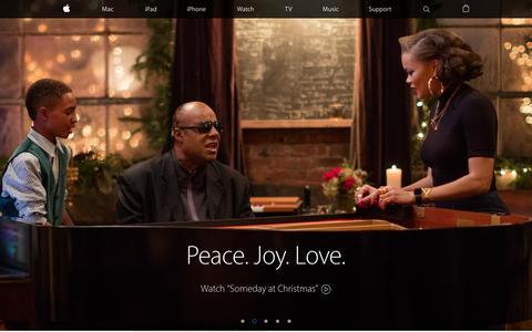 Screenshot of Home Page apple.com - Apple - captured Dec. 1, 2015