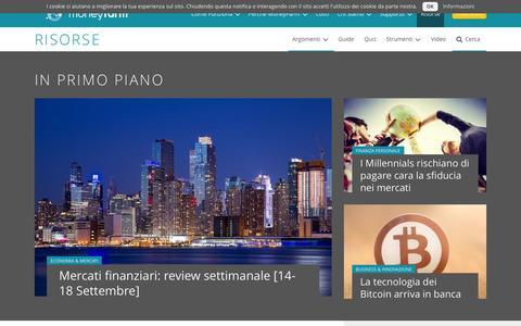 Screenshot of Blog moneyfarm.com - Finanza Personale, Investimenti e Economia | MoneyFarm Blog - captured Sept. 21, 2015
