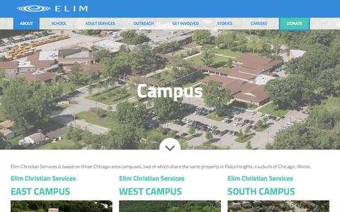 Screenshot of Maps & Directions Page elimcs.org - Campus : Elim Christian Services - captured July 29, 2017