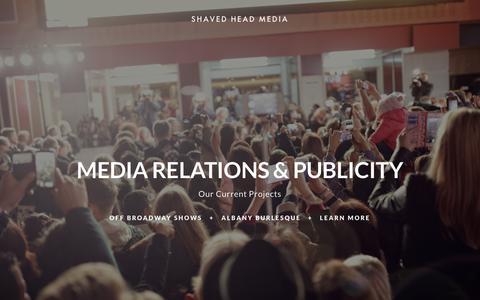 Screenshot of Press Page shavedheadmedia.com - Media Rep — Shaved Head Media, Inc. - captured Oct. 2, 2018