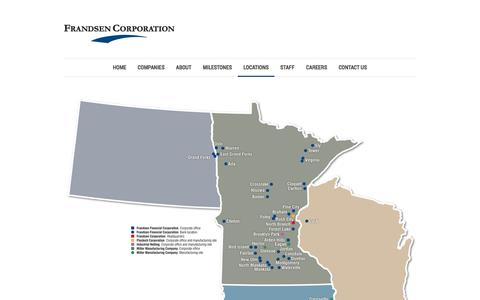 Screenshot of Locations Page frandsencorporation.com - Frandsen Corporation |   Locations - captured Sept. 30, 2014