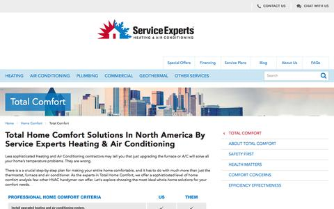 North America Total Home Comfort Experts | Service Experts Heating & Air Conditioning