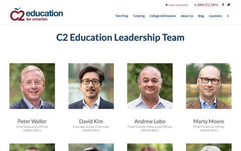 Screenshot of Team Page c2educate.com - Leadership | C2 Education - captured Feb. 26, 2019