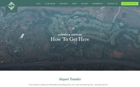 Screenshot of Contact Page riverside-golf.com - Tropical Golf Site in Indonesia | Riverside Golf Club - captured June 29, 2018