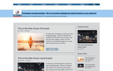Screenshot of Blog netisomer.com - Cisco ACI Training, Data Center Training, CCIE Data Center, OpenStack | Blog - captured June 12, 2017