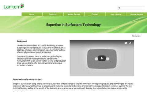 Screenshot of About Page lankem.eu - About us ¦ Lankem Surfactants - captured Sept. 24, 2018