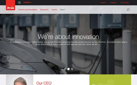 Screenshot of About Page itron.com - About - captured Oct. 1, 2018