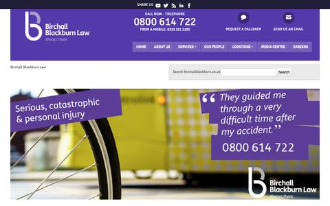 Screenshot of Home Page birchallblackburn.co.uk - Law firm Chester | Law firm Chorley | Law Firm Leyland - captured Oct. 5, 2018