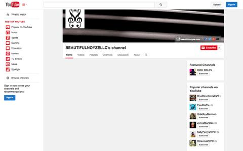 Screenshot of YouTube Page youtube.com - BEAUTIFULNOYZELLC's channel  - YouTube - captured Nov. 3, 2014
