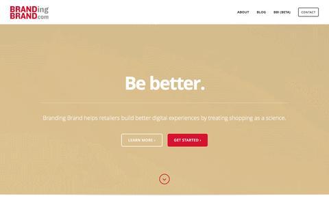 Screenshot of Home Page brandingbrand.com - Branding Brand   Shopping as a Science - captured Dec. 12, 2015