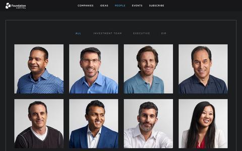 Screenshot of Team Page foundationcapital.com - People - Foundation Capital - captured Dec. 30, 2016