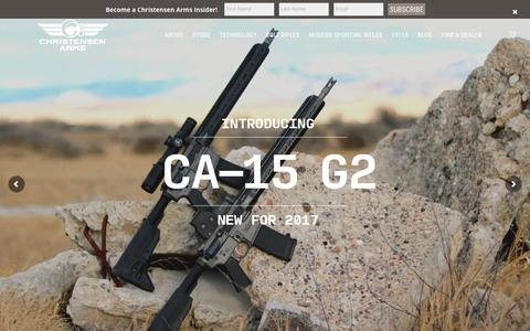 Screenshot of Home Page christensenarms.com - Home - Christensen Arms - captured May 16, 2017