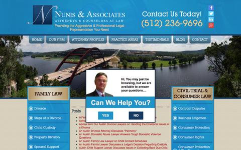 Screenshot of Site Map Page nunislaw.com - Sitemap | Nunis & Associates - captured Feb. 17, 2016
