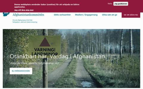 Screenshot of Home Page sak.se - Svenska Afghanistankommittén (SAK) | - captured Nov. 29, 2018
